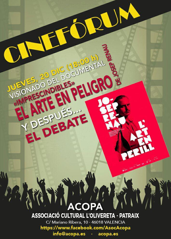 Cartel Josep Renau El arte en peligro