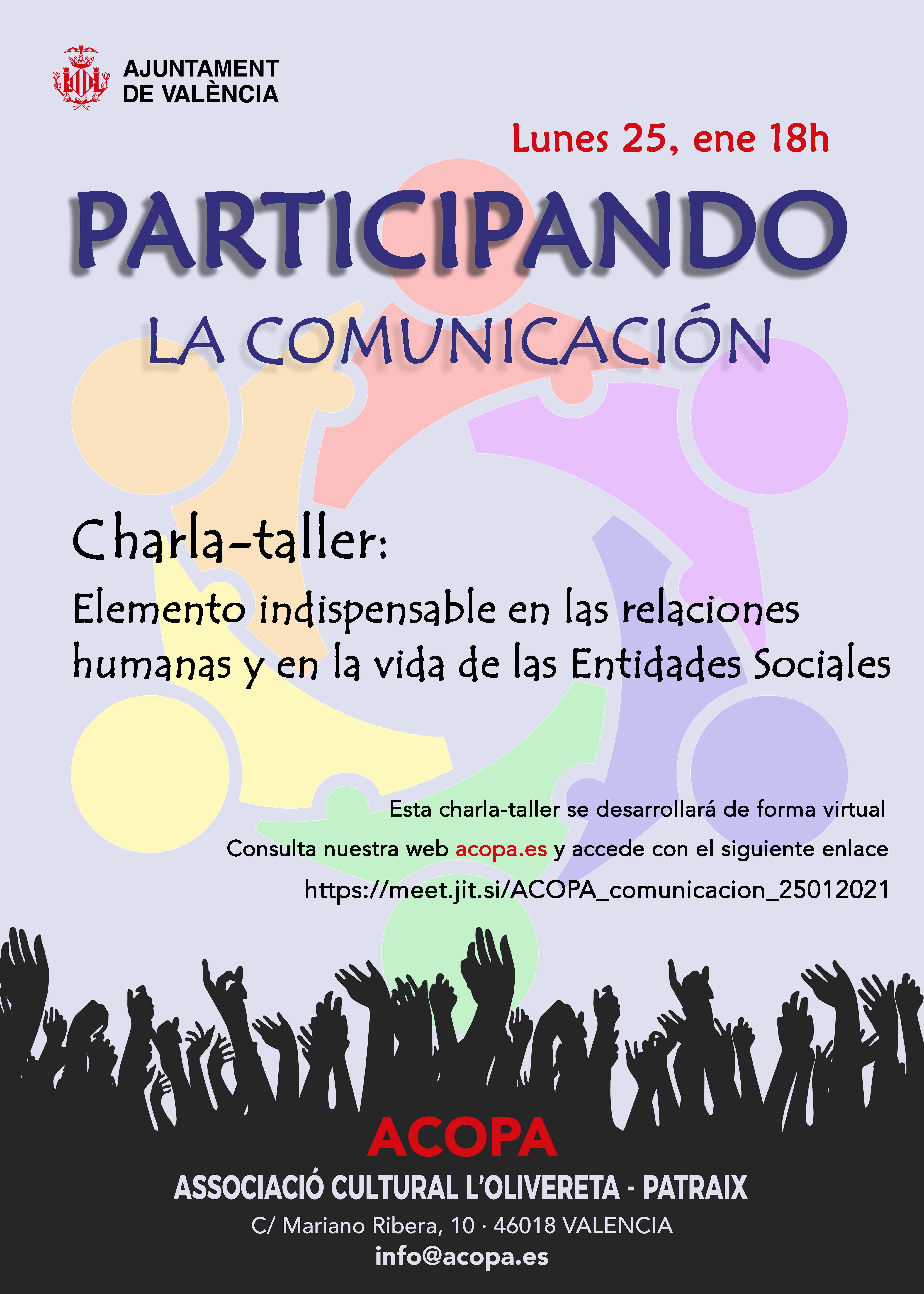 Cartel de la charla con la mimsma información que la página
